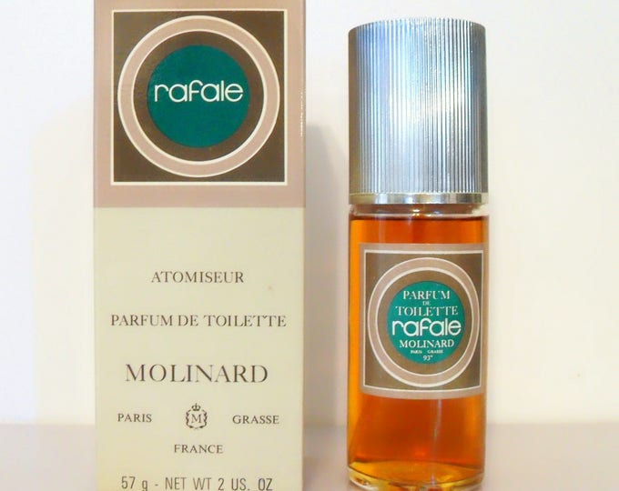 Featured listing image: Vintage Perfume 1970s Rafale by Molinard 2 oz Parfum de Toilette Spray and Box DISCONTINUED Women's Fragrance