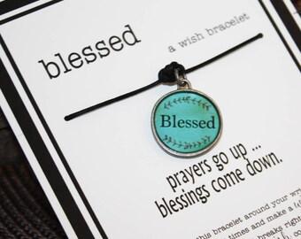 Blessed ... A Wish Bracelet -- Wishes - Birthday ... Gift ... Friendship Bracelet ... Holidays