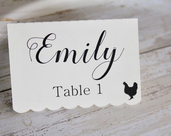 Place Cards, Escort Cards, Tented Place Cards, Wedding