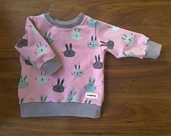 "Sweater ""Bunny Band""/OEKO-Tex Jersey/Gr. 56-62"