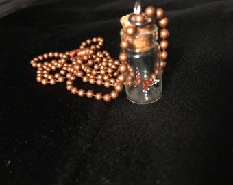 Butterfly Jar Necklace