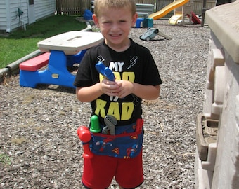 Little boys superman tool belt