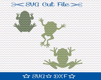 Frog SVG /  Cut File for Silhouette or Cricut / Animal SVG / Amphibian SVG  / Toad