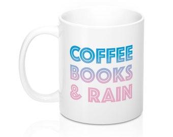 Coffee Books  Rain  11Oz  15Oz Mugs