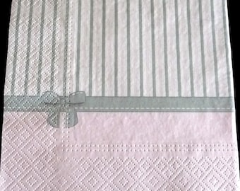 Pink and grey background paper towel