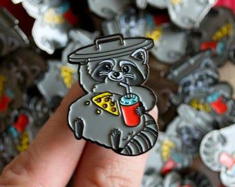 Fat Raccoon Enamel Pin