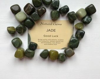Jade crystal + information card