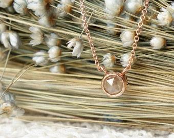 Round Rose Cut Diamond Necklace - Deposit