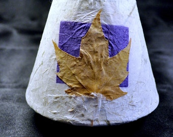 Luminous Night Light with Red Maple Leaf  and Purple Square House warming Gift Home Decor PM-NL#15
