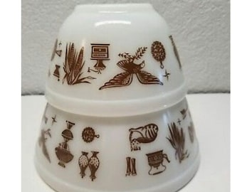 2 Pyrex early American bowls
