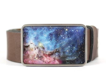 Stardust Belt Buckle,  Universe Belt Buckle, Galaxy Belt Buckle, Space Belt Buckle