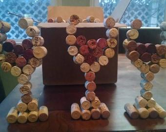 Wine cork glasses