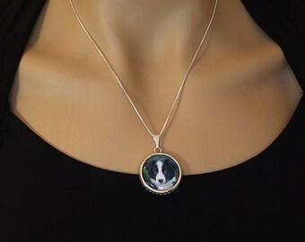 Picture Necklace, photo pendant necklace, custom portrait jewelry, photo charm, photo pendant jewelry, custom pet necklace