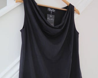 Sleeveless Drape Front Top - featuring a beautiful waterfall neckline that is flattering on any woman