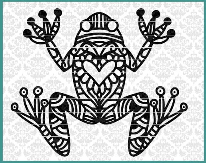 Frog Svg, Zentangle Frog Svg, Toad Svg, Frog Lover Svg, Bullfrog svg, green tree frog svg, froggy svg, Frog Shirt Svg, Cricut, Silhouette