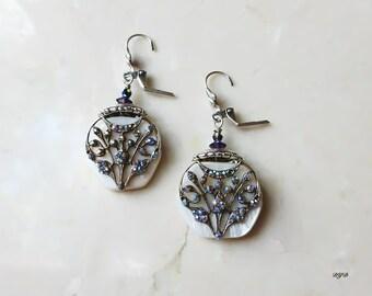 Earrings - Glittering Tree
