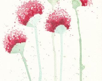 Original Watercolour Art ~ Soft Flowers