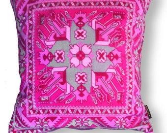 Sofa pillow pink velvet cushion cover PINK TOPAZ