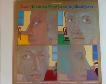 Mozart - The Last Four String Quartets - The Julliard Quartet - Columbia Records 1976 - Vintage Gatefold Vinyl 2LP Classical Record Album