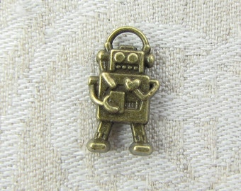 1 or 12, Steampunk, Robot, Steampunk Robot, Robot Charm, Geekery, Science Fiction, Mechanical Robot, Robot With Heart, SFF027BZ