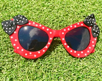 Rock the Dots Sunglasses in Red - Customizable