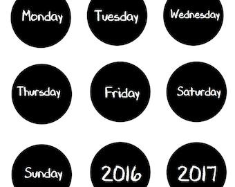 """3"""" wählen Sie Ihre Jahre oder Tage der Woche Magnete großen zurück zu Schule Tafel Design Kalender jeder 3"""" mit voller Magnet Made To Order"""