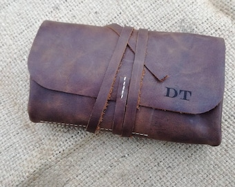 Leather Pipe pouch, Leather pipe roll, Pipe Case, Tobacco pouch, Anniversary gift, Cigar, Rolling pipe Case, Pipe Bag, Personalized Leather