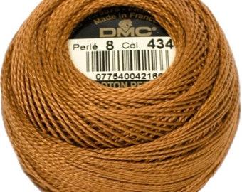 DMC 434 Perle Cotton Thread   Size 8   Light Brown