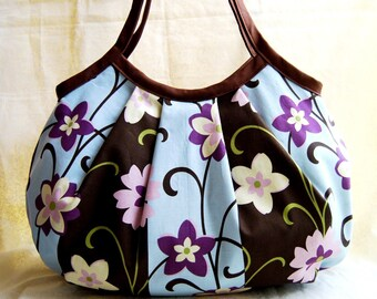 Shell Bag - Blooming Stripe in Espresso