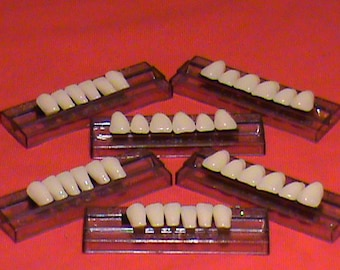3 sets of Anterior Acrylic Resin denture/false teeth. Available in Shade  A3, size 22.