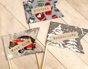 Large Word Flags - set of 3