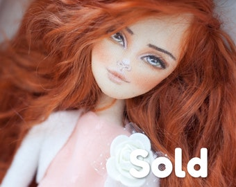 Ooak handmade collection doll, beautiful doll, real doll, portrait doll, textile doll