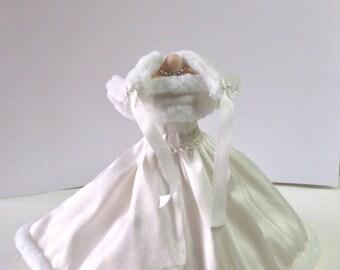 1-12th Scale  silk wedding dress.