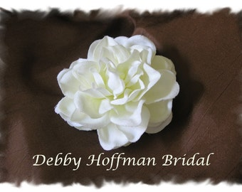 Gardenia Flower Bridal Hair Clip, Wedding Flower Hair Comb, Flower Wedding Headpiece, Flower Brooch Pin, Bridal Wedding Hair Piece Flower