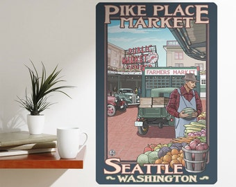 Pike Place Seattle Washington Wall Decal - #60739