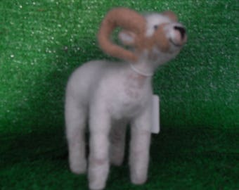 A Needle Felted Goat