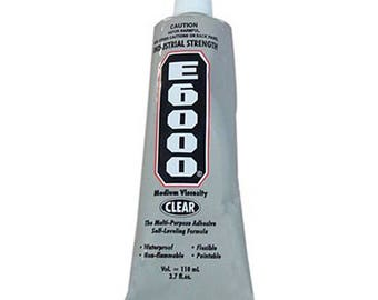 E6000 Adhesive Clear Industrial Strength Glue - 3.7 oz (109.4ml)