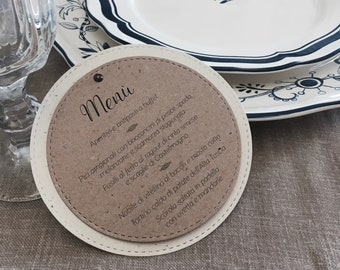 10 Country/Shabby chic round menus