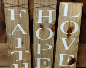 Faith, Hope, Love pallet wall decor.