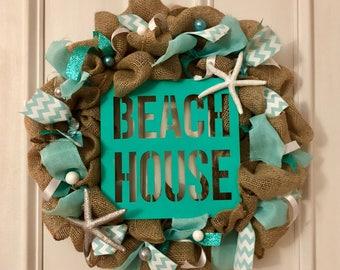 Beach house wreath