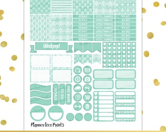 SKY BLUE PRINTABLE Planner Stickers | Instant Download | Pdf and Jpg Format