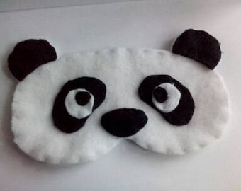 Sleeping mask Panda fleece