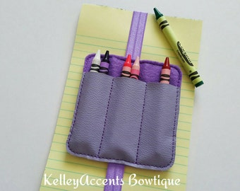 Crayon Holder - Crayon Caddy - Crayon Case - Bookmark - Coloring Bookmark - Book Band - Elastic Bookmark
