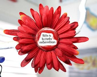Handmaids Tale Flower Hair Clip in Red