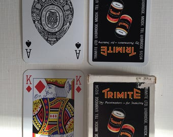 Commercial company, Trimite, plastic coated, playing cards.
