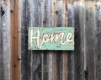 Rusty Metal HOME sign
