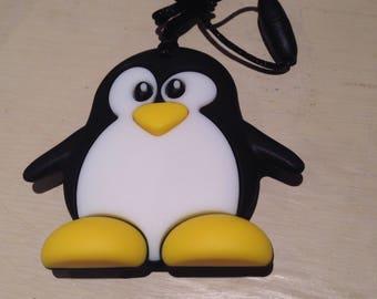 Silicone Penguin Pendant