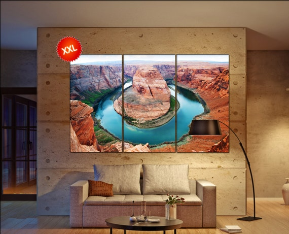 Horse Shoe Bend large canvas wall art  decor print Grand Canyon  large  living room  Office Decor