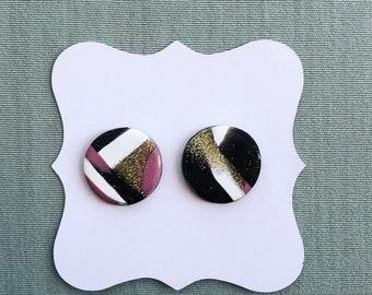 Polymer Clay Earrings / Stud Earrings / Geometric Earrings/ Gifts for Her / Jewelry