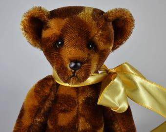 Graham – Handmade Teddy Bear, Artist Bear, Stuffed Animal, Mohair, Toy, OOAK, Made In Alaska